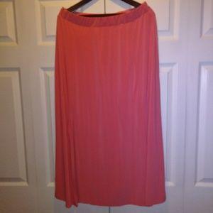 Pink Maxi Skirt. Size 1X